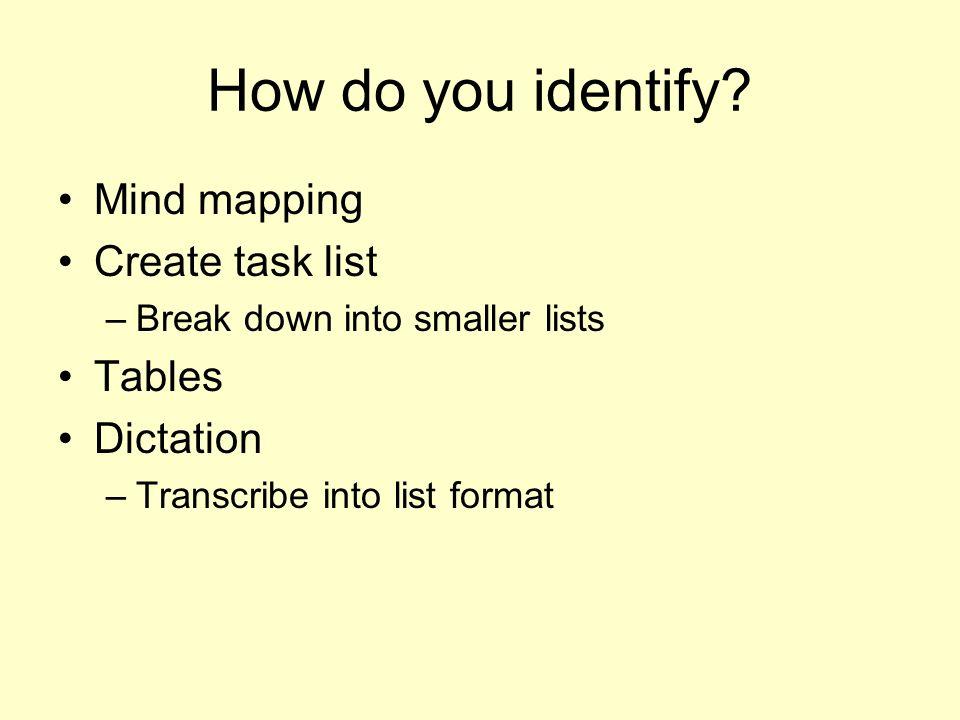 How do you identify.
