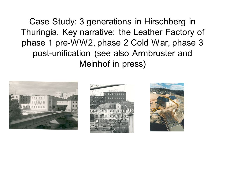 Case Study: 3 generations in Hirschberg in Thuringia.