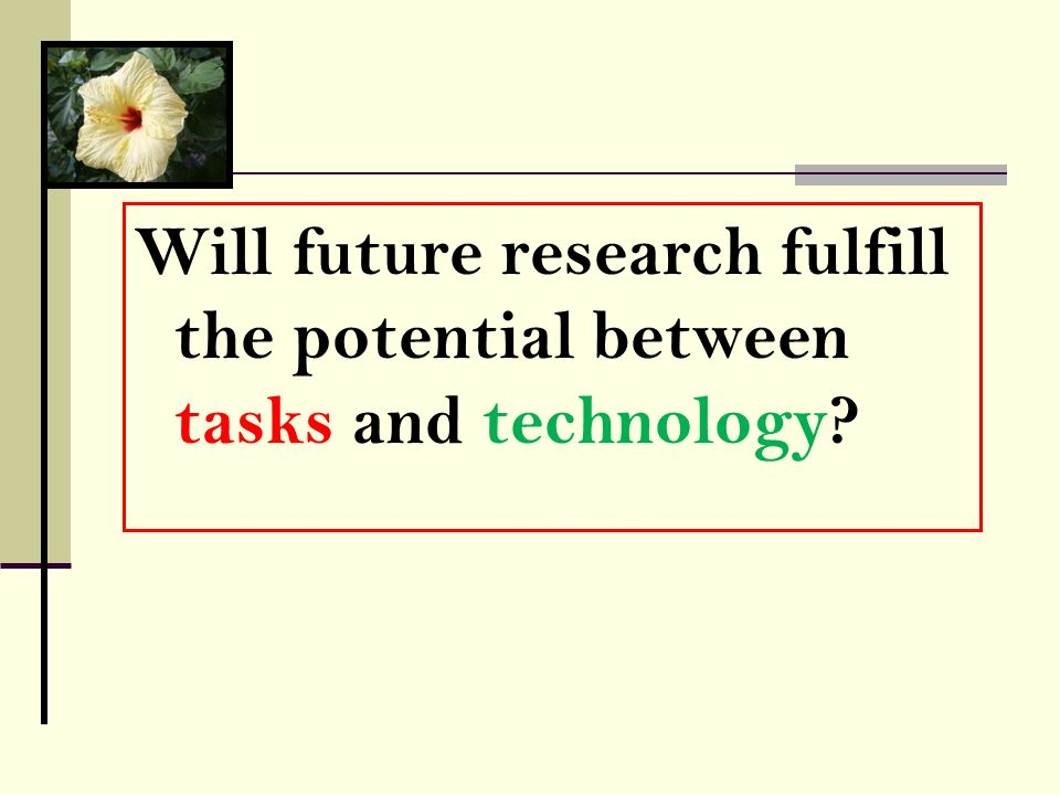 Will the TBLT and LLT research communities break away from superficial barriers?… Will future research fulfill the potential between tasks and technol