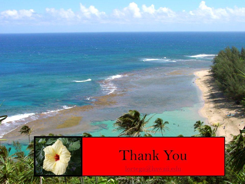 Thank You lortega@hawaii.edu