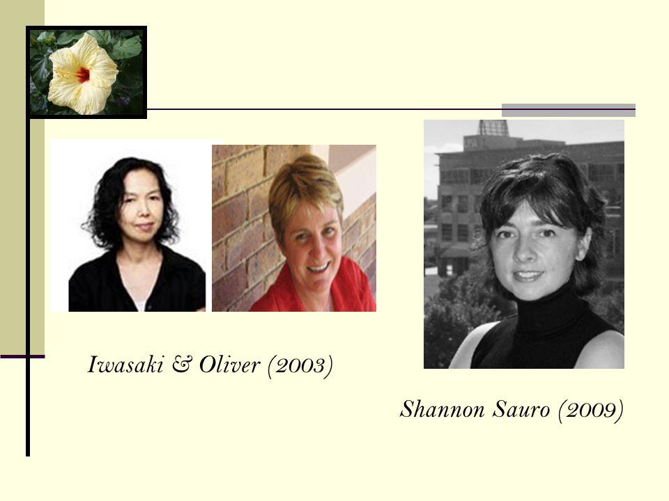 Shannon Sauro (2009) Iwasaki & Oliver (2003)