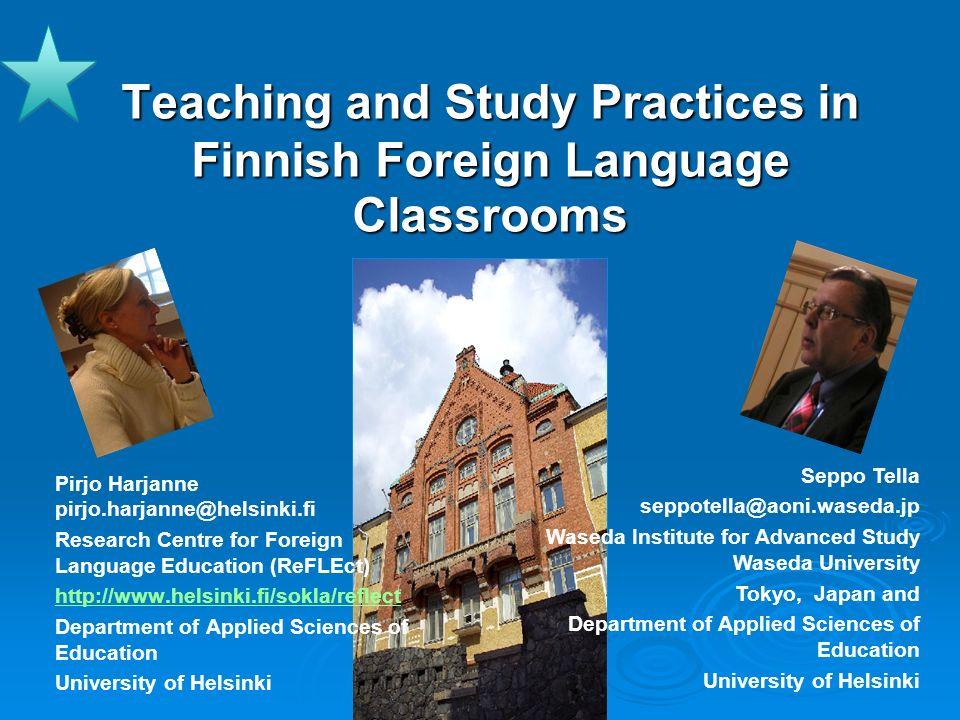 22TBLT 2009 Harjanne & Tella 22 CLT vs.traditional language teaching CLT vs.