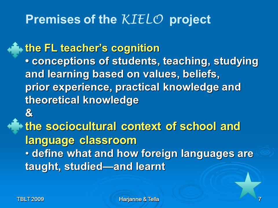 38TBLT 2009 Harjanne & Tella 38 Why do FL teachers prefer traditional (teacher-centred, focus on grammar) language teaching.