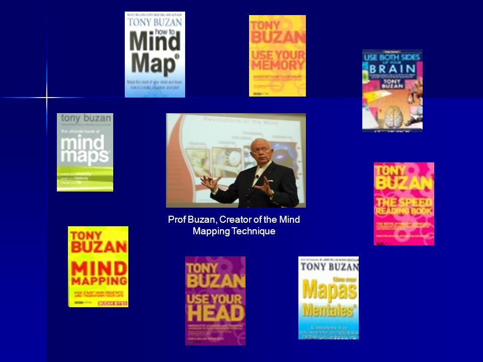 Prof Buzan, Creator of the Mind Mapping Technique
