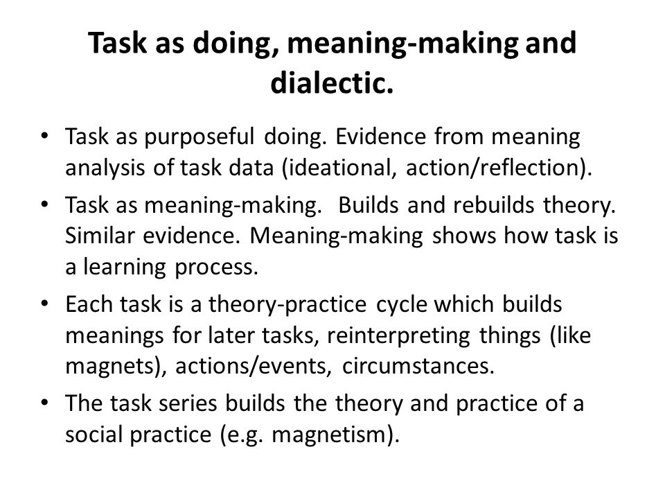 Case 2.TASK REFLEXIVITY. Learners formative assessment of academic discourse in content tasks.
