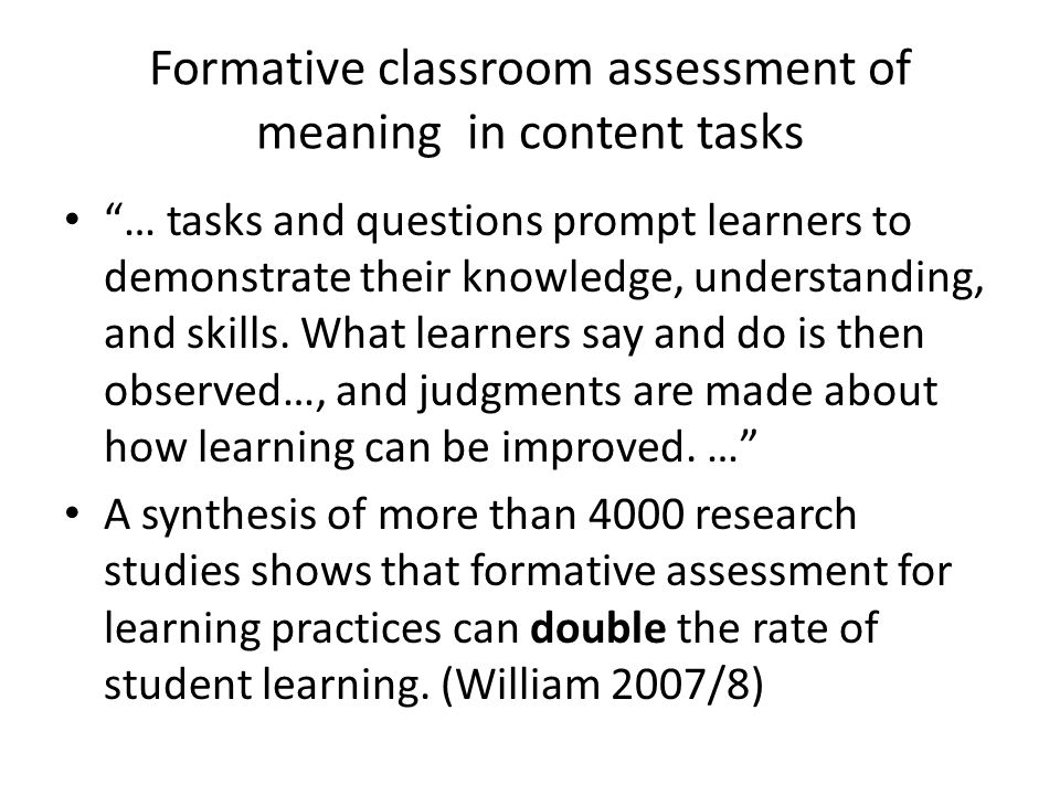 The gap in assessing wording and meaning in tasks Pedagogical task a piece of classroom work that involves learners in …mobilizing their grammatical knowledge in order to express meaning, and in which the intention is to convey meaning rather than to manipulate form (Nunan 2004:4).