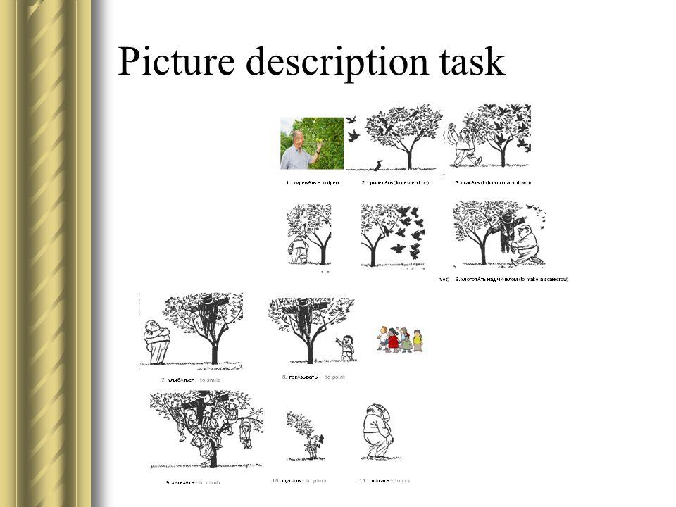 Picture description task