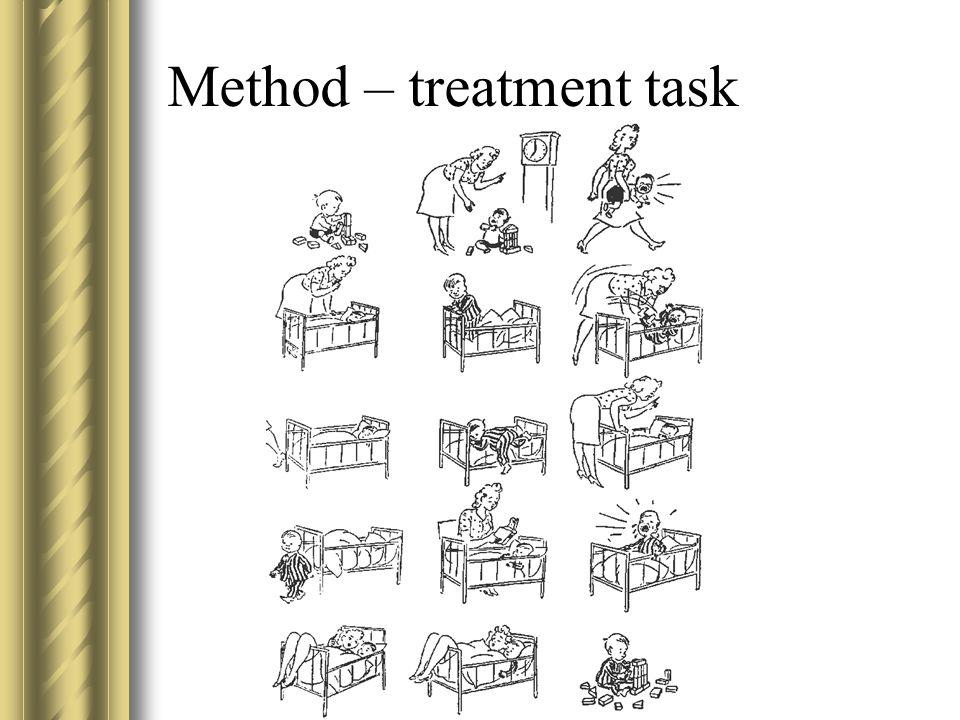Method – treatment task