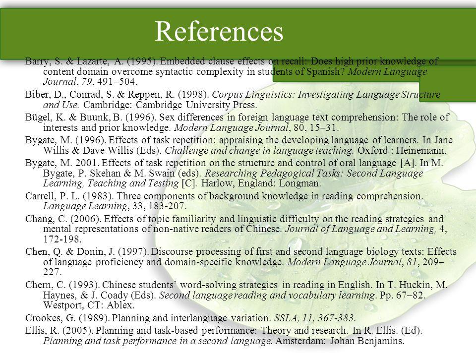 References Barry, S. & Lazarte, A. (1995).
