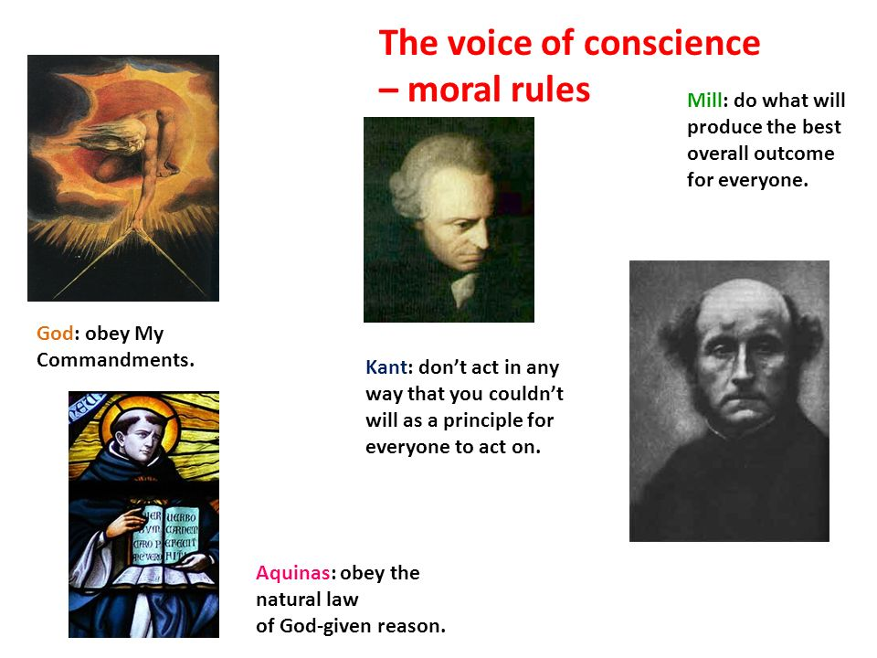 God: obey My Commandments. Aquinas: obey the natural law of God-given reason.