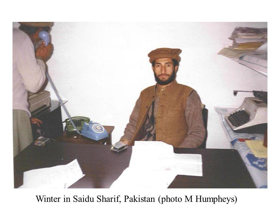 Winter in Saidu Sharif, Pakistan (photo M Humpheys)