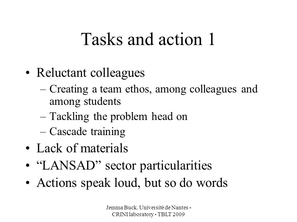 Task creation Guidance sheets Q1 = Is it useful for the performance task.