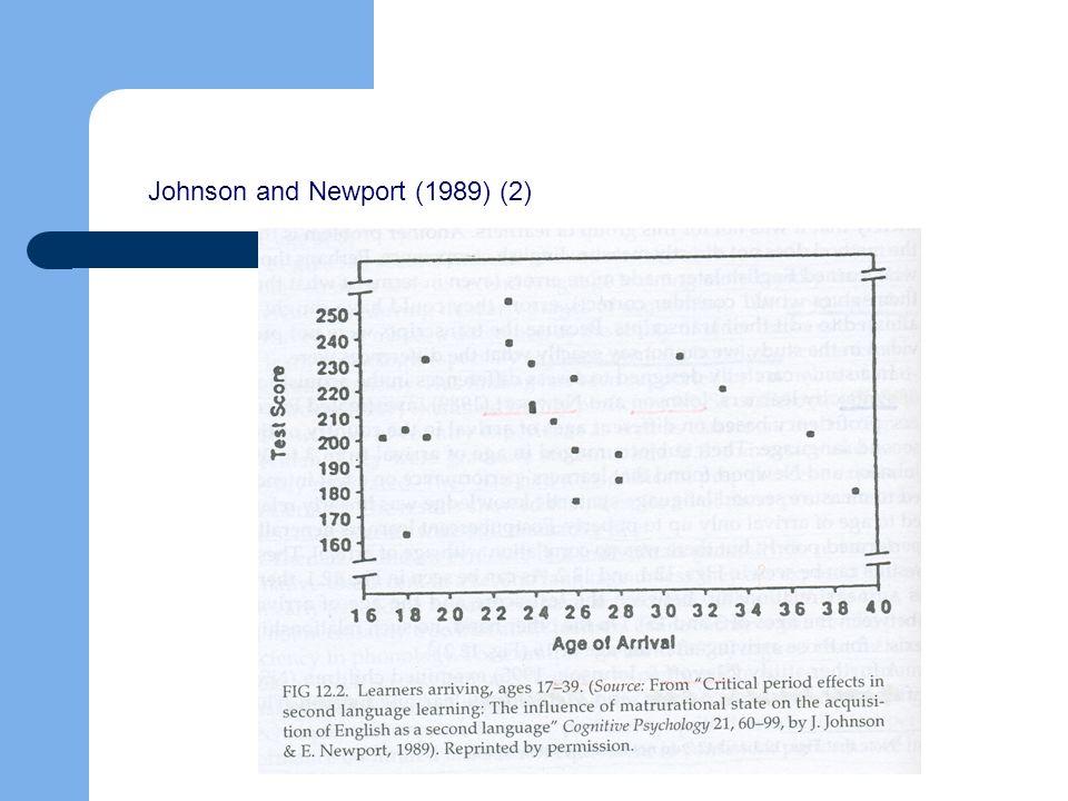 Johnson and Newport (1989) (2)