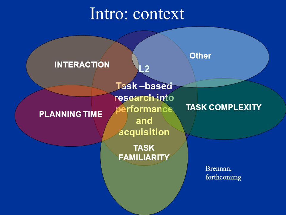 Interactive, two-way, closed, convergent, split information narrative task SIMPLE Here-and-now Visual presence (here) Present tense (now) COMPLEX There-and-then No visual presence (there) Past tense (then) Tasks and operationalization of variables
