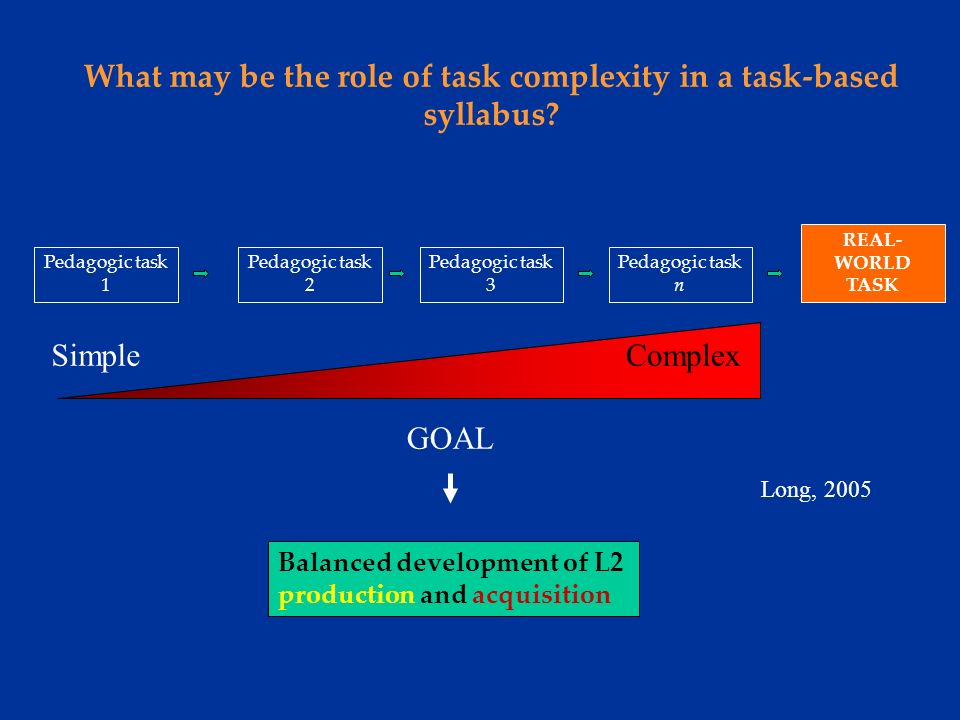 1)As in other task-based research areas (e.g.