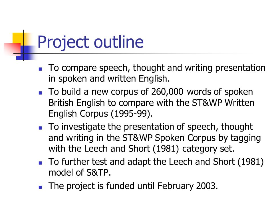 Construction of the corpus 120 texts - approximately 260,000 words.