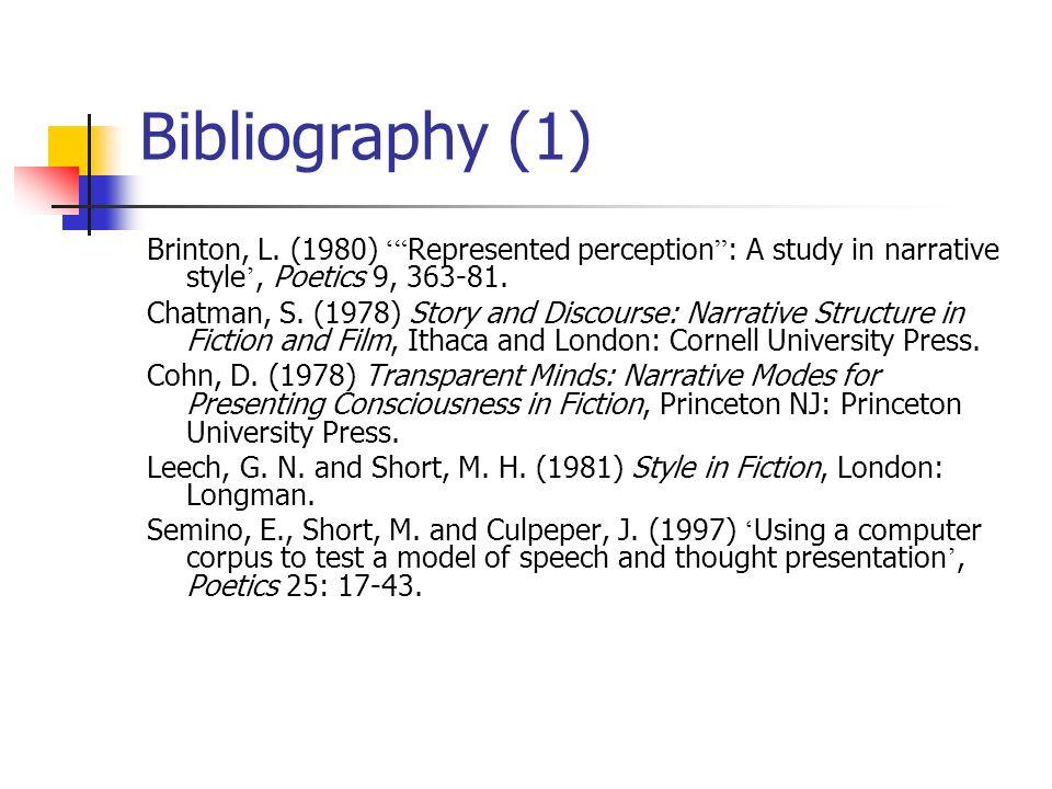 Bibliography (1) Brinton, L.