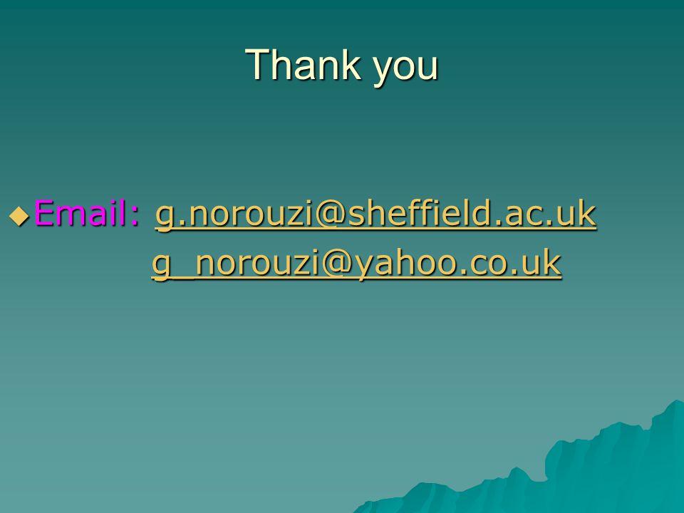 Thank you Email: g.norouzi@sheffield.ac.uk Email: g.norouzi@sheffield.ac.ukg.norouzi@sheffield.ac.uk g_norouzi@yahoo.co.uk g_norouzi@yahoo.co.ukg_norouzi@yahoo.co.uk