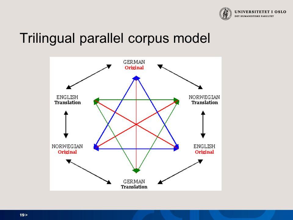 19 > Trilingual parallel corpus model