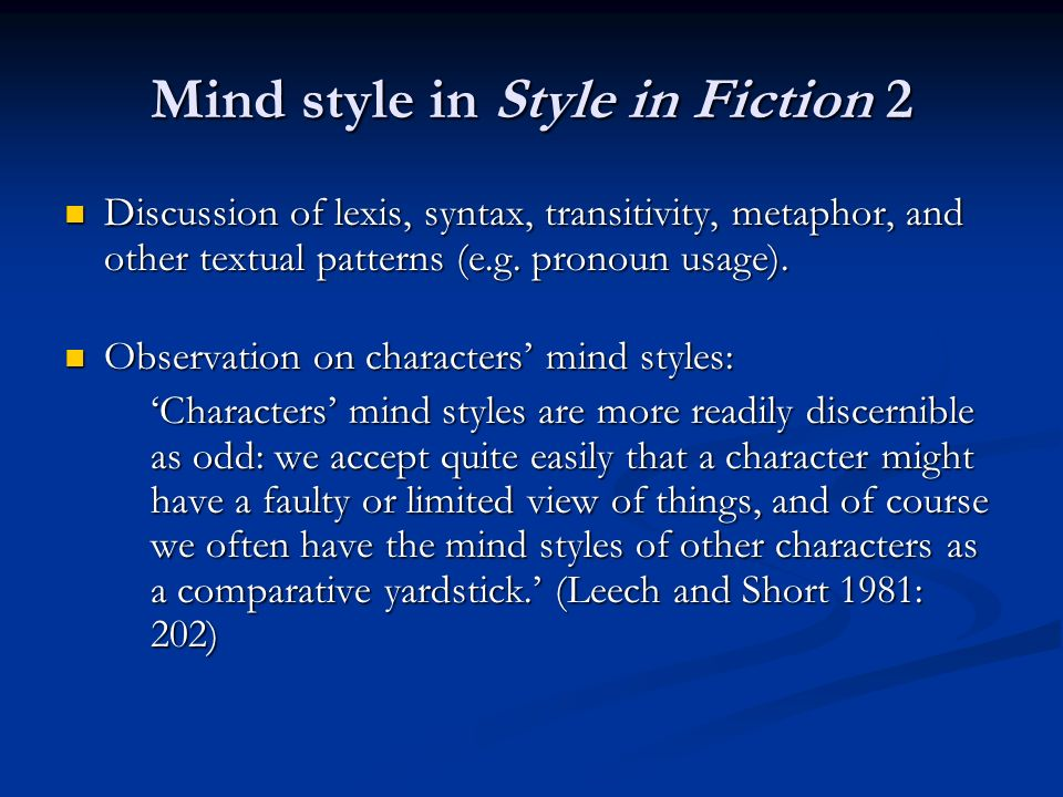 Politeness phenomena and mind style: The Modesty Maxim in The Curious Incident 15.