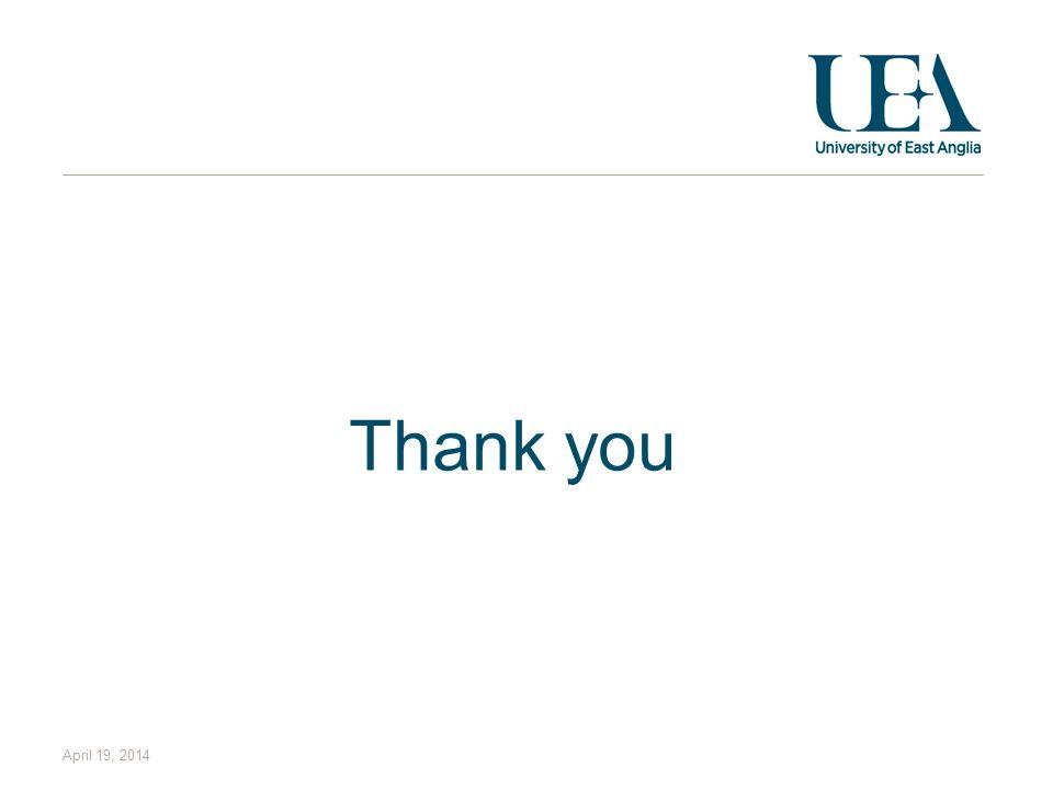 Thank you April 19, 2014