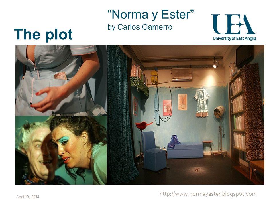 The plot Norma y Ester by Carlos Gamerro April 19, 2014 http://www.normayester.blogspot.com