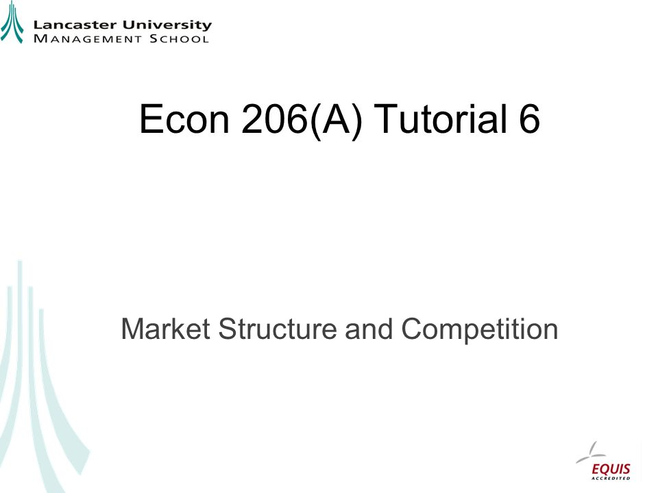 Econ 206(A) Tutorial 6 Market Structure and Competition