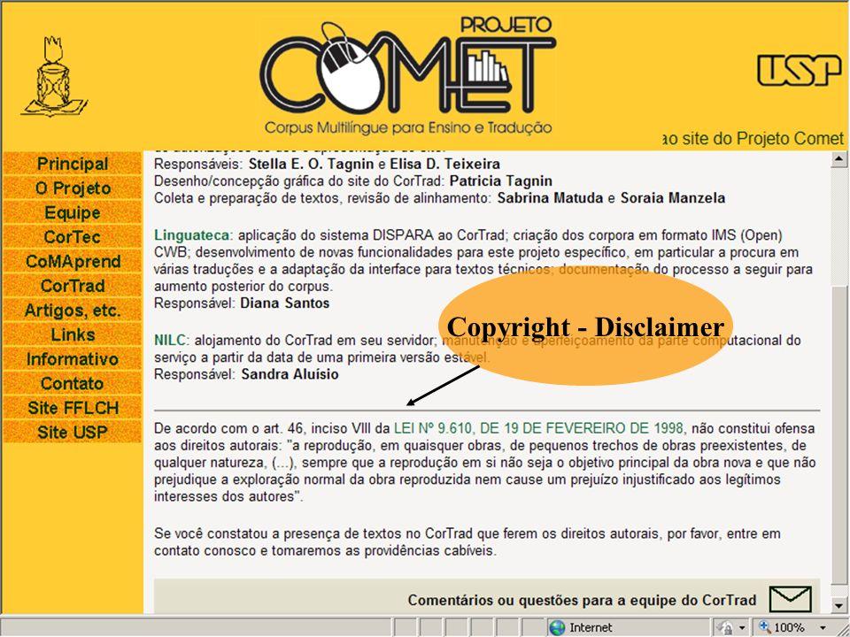 Copyright - Disclaimer