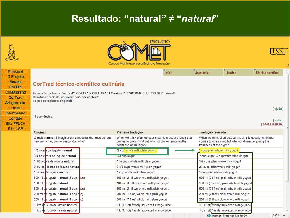 Resultado: natural natural