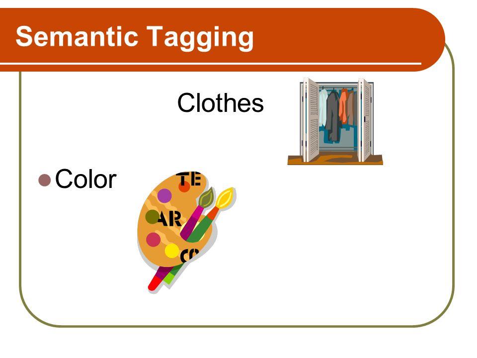 Semantic Tagging Clothes Color