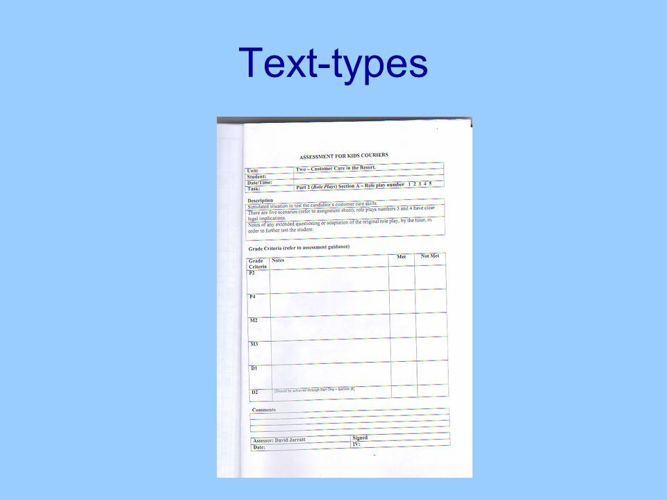 Text-types