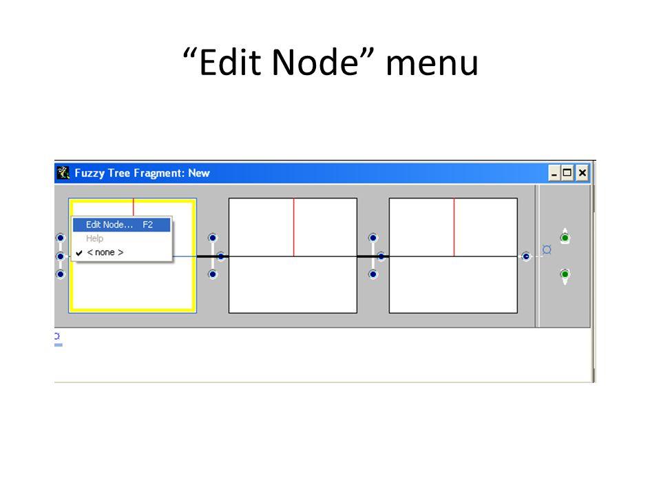 Editing 1 st node