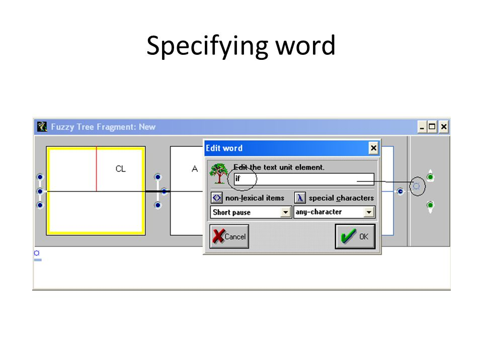 Complete nodes with specified word clause (main) Adverbial clause introduced by the subordinator if