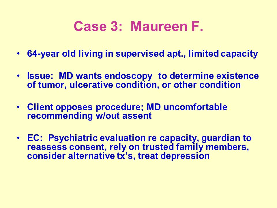 Case 3: Maureen F.