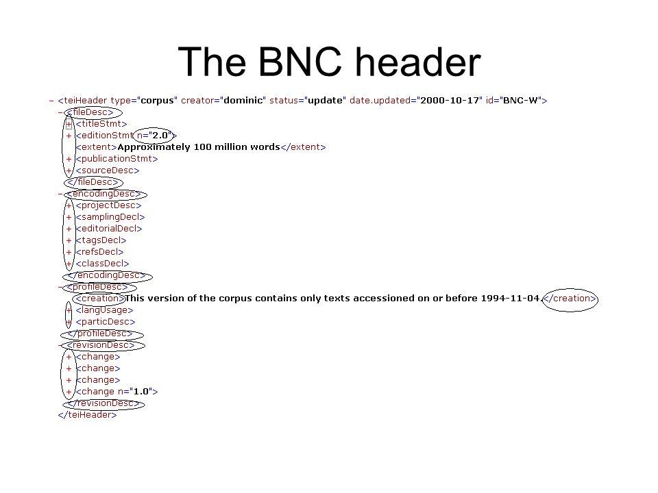 The BNC header