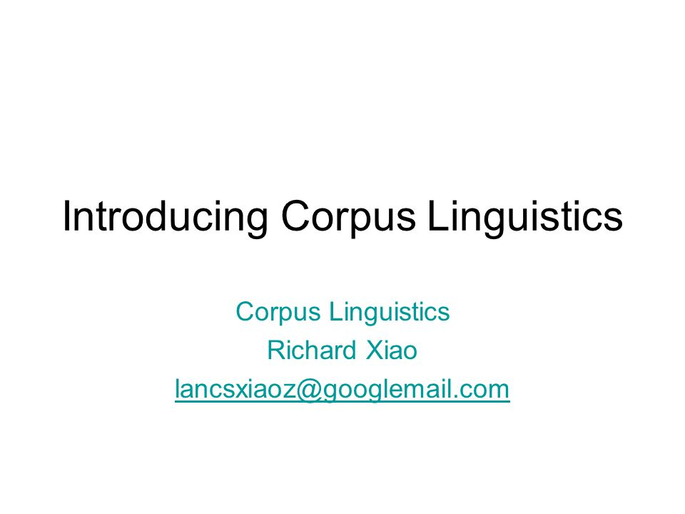 What is a corpus for.