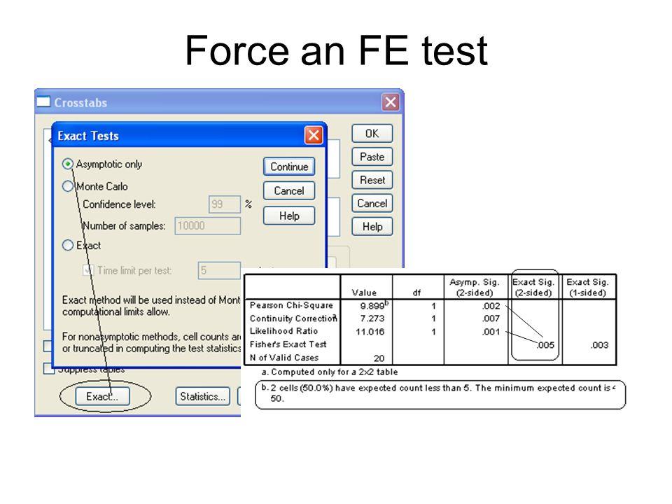 Force an FE test