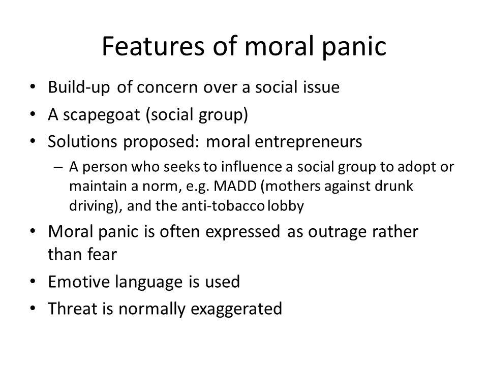 McEnerys (2005) moral panic categories 1.