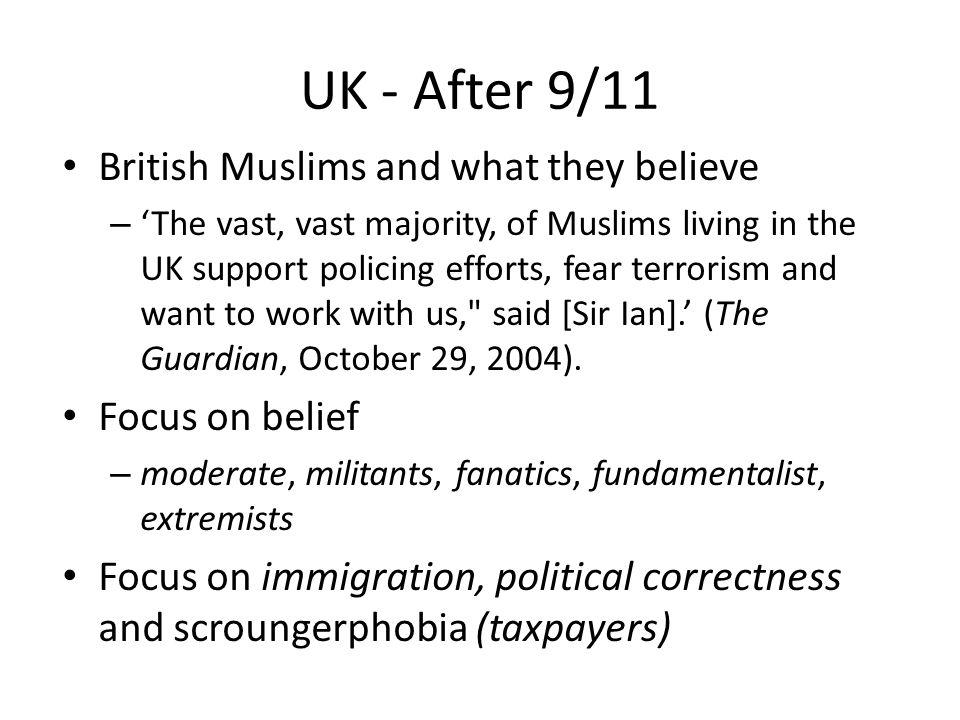 UK moral panic post 9/11.
