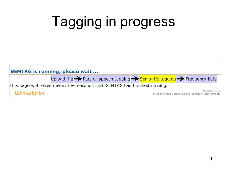 Tagging in progress 26