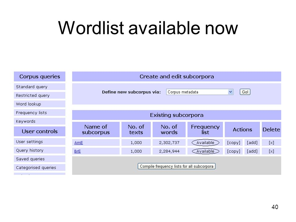 Wordlist available now 40
