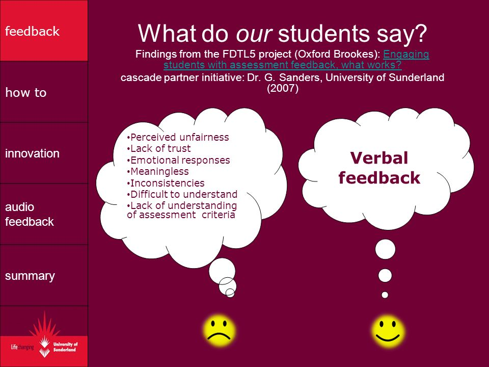What do our students say.