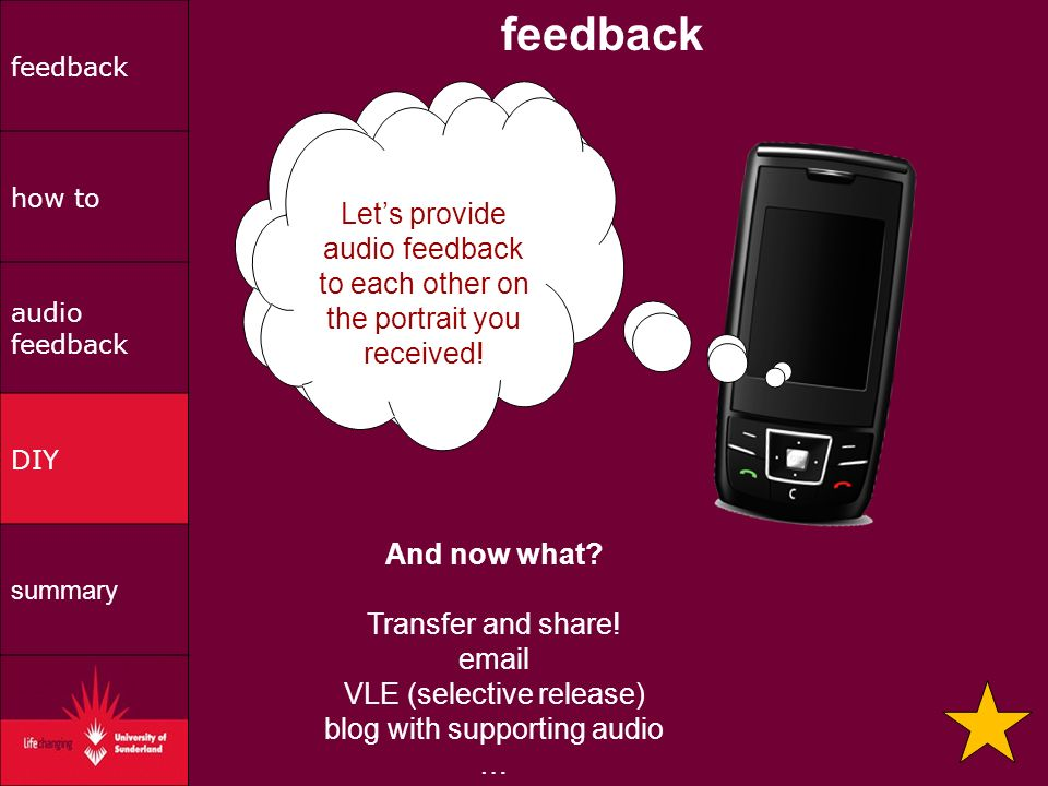 feedback how to audio feedback DIY summary And now what.