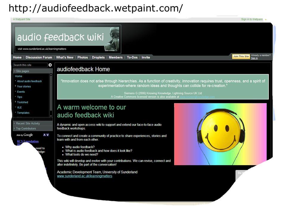 http://audiofeedback.wetpaint.com/