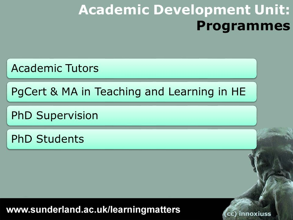 Academic Development Unit: Programmes