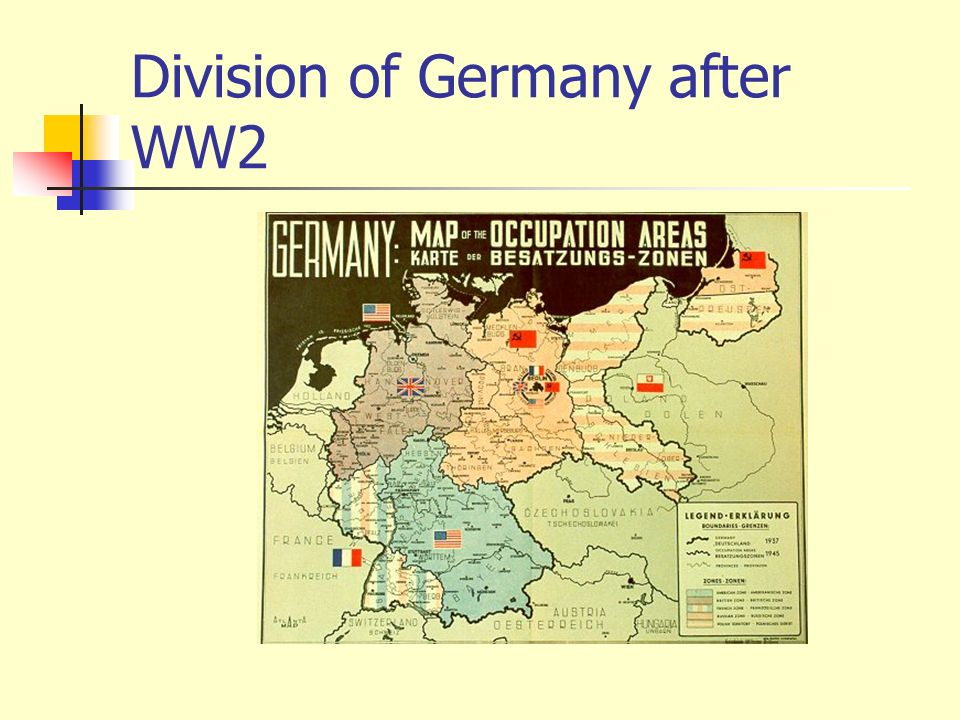 Division of Germany after WW2