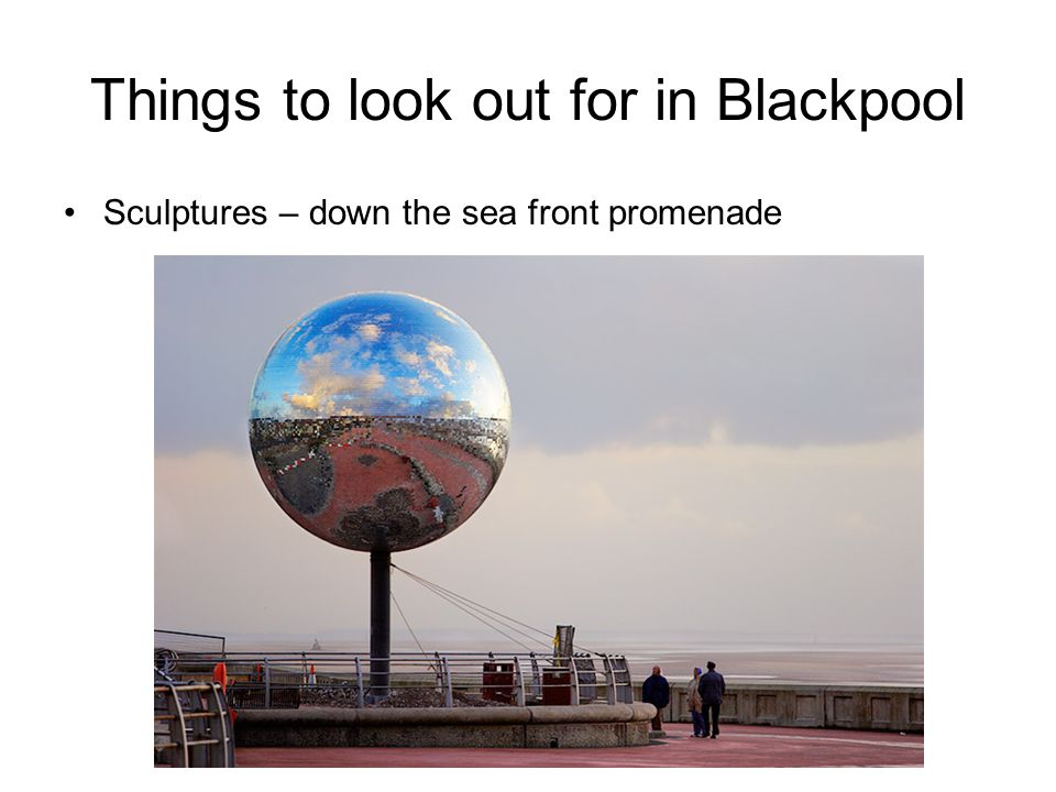 Things to look out for in Blackpool Sculptures – down the sea front promenade