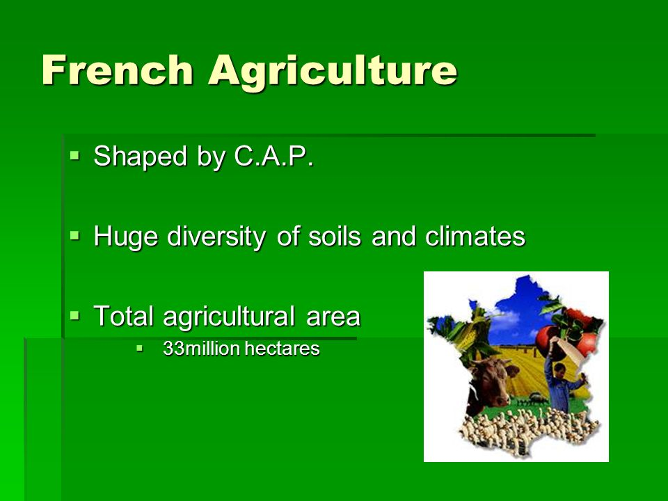 French Agriculture Shaped by C.A.P. Shaped by C.A.P.