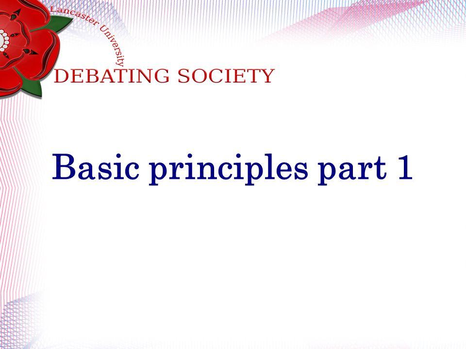 Basic principles part 1