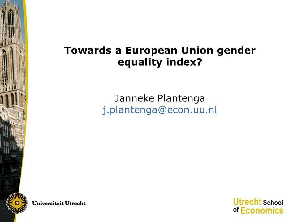 Towards an equality index.